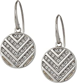 Fossil - Chevron Glitz Drop Earrings