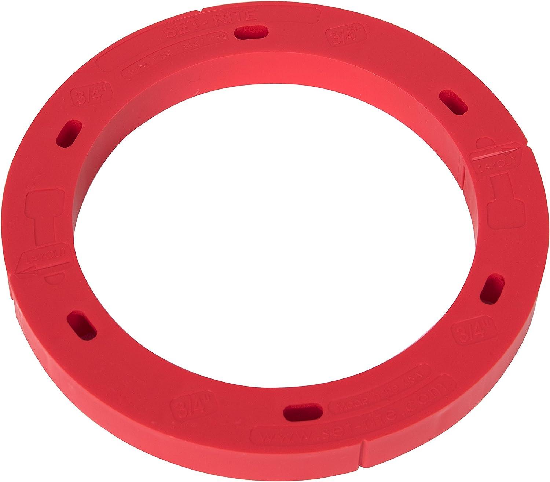 Oatey Oatey-43410 43410 Set-Rite Red 3 Flange Max 64% OFF in. Toilet Spac Bombing new work 4