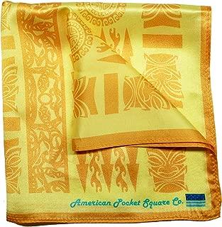 Silk Pocket Square by American Pocket Square Company | Tropical Yellow, Hawaiian: