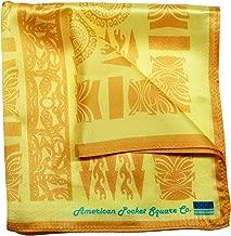 Silk Pocket Square by American Pocket Square Company   Tropical Yellow, Hawaiian: