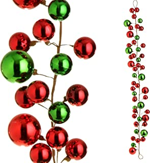RAZ Imports - 4' Red and Green Christmas Garland for Christmas Trees or Staircase