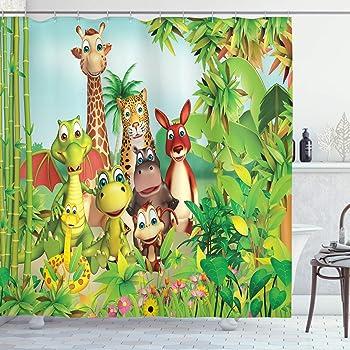 * JUST HANGIN AROUND 12 shower curtain hooks MONKEYS Zoo Jungle animal