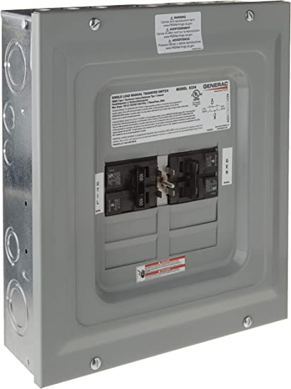 Manual transfer switch for generator