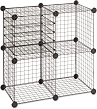 Safco 5279BL Wire Cube Shelving System 15w x 15d x 15h Black