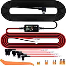 Smraza Dash Cam Hardwire Kit 11.5ft Mini USB DC 12V-30V to 5V Car Dash Camera Charger Cable kit with Fuse, Mini/ACS/ATO/Micro2 Add a Circuit Fuse Holders, Low Voltage Protection for Mini USB Dash Cams