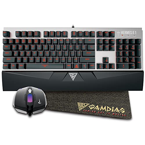 GAMDIAS Hermes E1 Mechanical Keyboard and Mouse with Mouse Pad