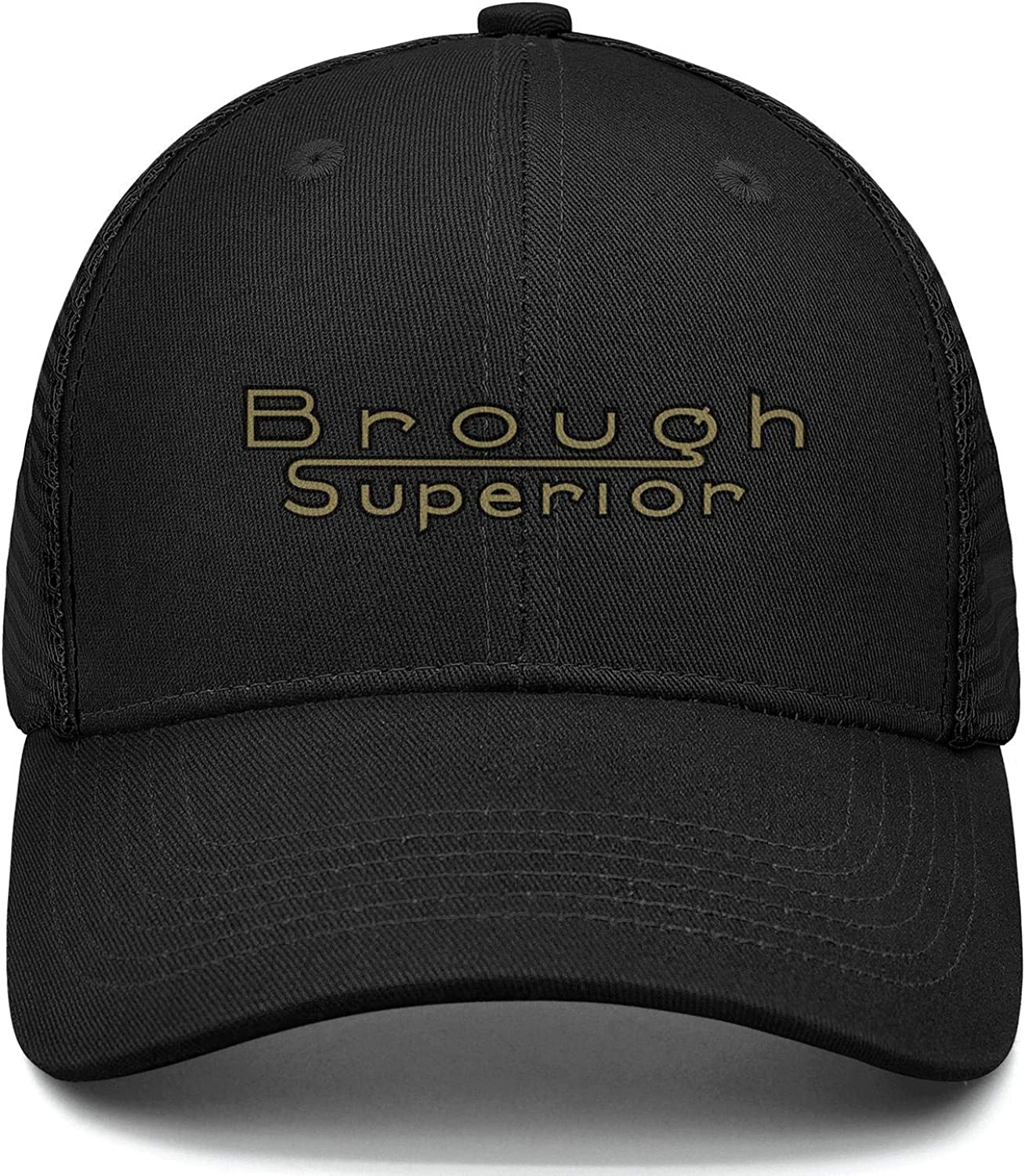COOLGOOD Mens Womens Trucker Hat Brough-Superior-Logo Relaxed Mesh Back Hop Hat