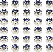 30PCS M8 (8mm) Nyloc zeskantmoer (Type-P) - RVS (A2)