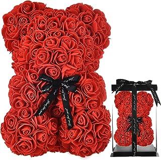 Rose Bear Women Gifts for Mom birthday girlfriend gifts for her , Rose Teddy Bear Rose Flowers Bear , Girls Valentines Bri...