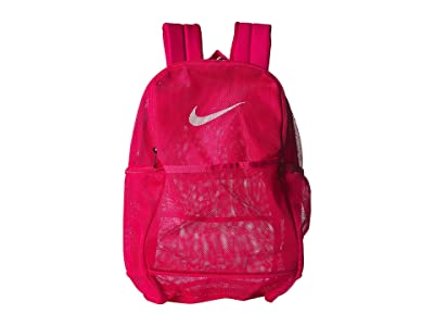 Nike Brasilia Mesh Backpack 9.0 (Rush Pink/Rush Pink/White) Backpack Bags