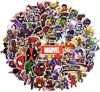 Laptop Sticker Pack 100 Pcs,Sanmatic Superhero Sticker Unique Cool Stickers Waterbottle Notebook Guitar Skateboard Travel Kid Adults Stickers Waterproof
