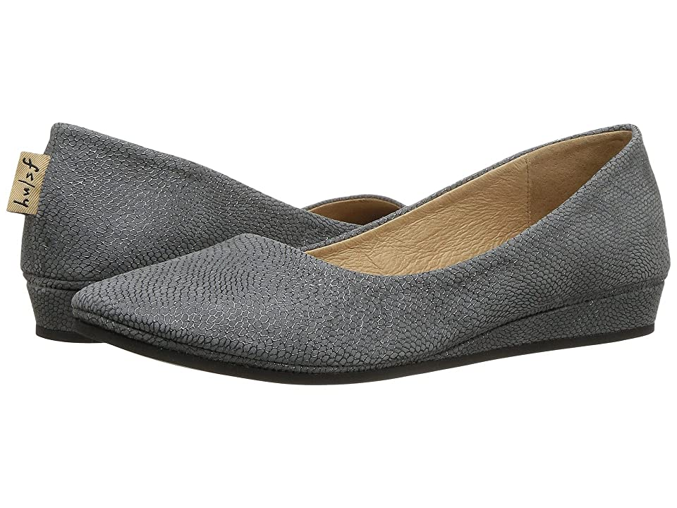 French Sole Zeppa Flat (Grey Foil Print) Women