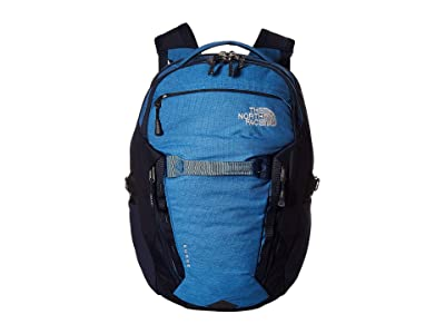 The North Face Surge Backpack (Dish Blue Light Heather/Urban Navy) Backpack Bags