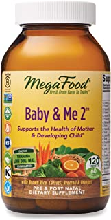 MegaFood - Baby & Me 2. Key Nutrients Vital to Prenatal Support of Both Mother & Baby. 120 Tablets