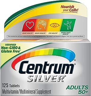 Centrum Silver Multivitamin for Adults 50 Plus, Multivitamin/Multimineral Supplement with Vitamin D3, B Vitamins, Calcium ...