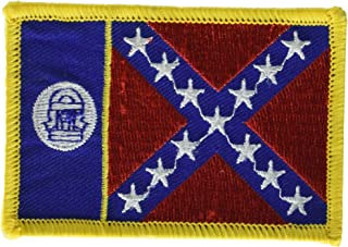 old georgia flag patch