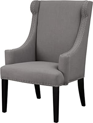 Amazon.com: Elle Decor UPH100085B Wingback Chair, Plum/Gray ...