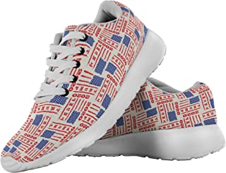 Trump 2020 USA Flag President Fashion Sneakers Casual Shoes for Men Women, Gifts for Republicans Veterans Conservatives