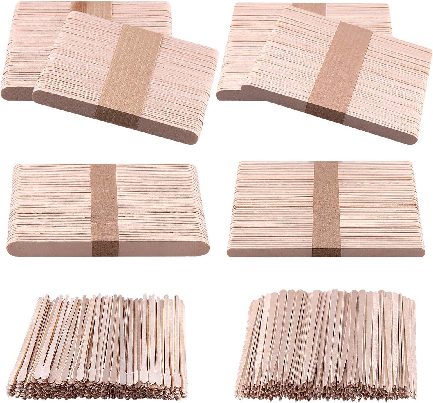 BQTQ Max 87% OFF Manufacturer direct delivery 1000 Pieces Wooden Wax Applicator Spatulas S Sticks