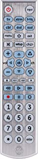 Best GE Big Button Backlit Universal Remote Control for Samsung, Vizio, Lg, Sony, Sharp, Roku, Apple TV, RCA, Panasonic, Smart TVs, Streaming Players, Blu-Ray, DVD, 6-Device, Silver, 33712 Review