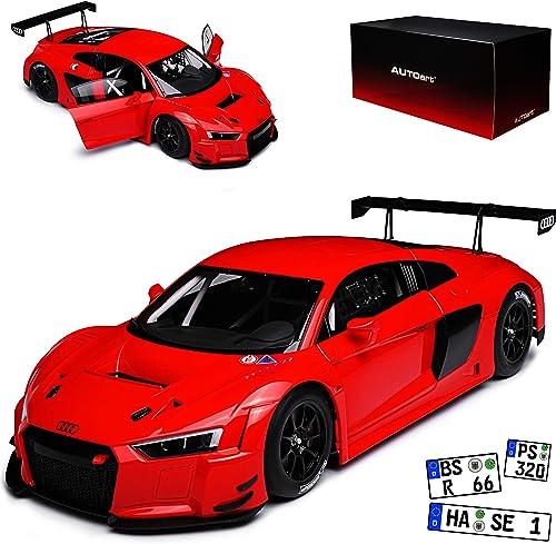 AUTOart Audi R8 FIA LMS GT GT3 Plain BOD Version Rot 81601 1 18 Modell Auto mit individiuellem Wunschkennzeichen
