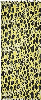 Ahujasons Mujeres leopardo imprimir bufanda de lana Amarillo
