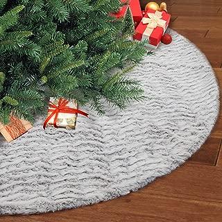 knit christmas tree skirt