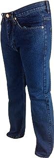 Mens Regular Fit Denim Jeans Waist 30-50 Leg 27 29 31 Comfort Casual Basic Plain Work Relaxed Pants Black Stonewash Blue L...