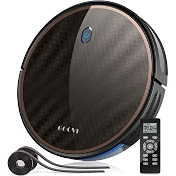 GOOVI by ONSON Robot Vacuum, 2000Pa Robotic Vacuum Cleaner (Slim) Max Suction, Quiet Multiple Cleaning Modes, Self-Charging Vacuum with Boundary Strips, for Pet Hair, Hard Floor, Medium-Pile Carpet