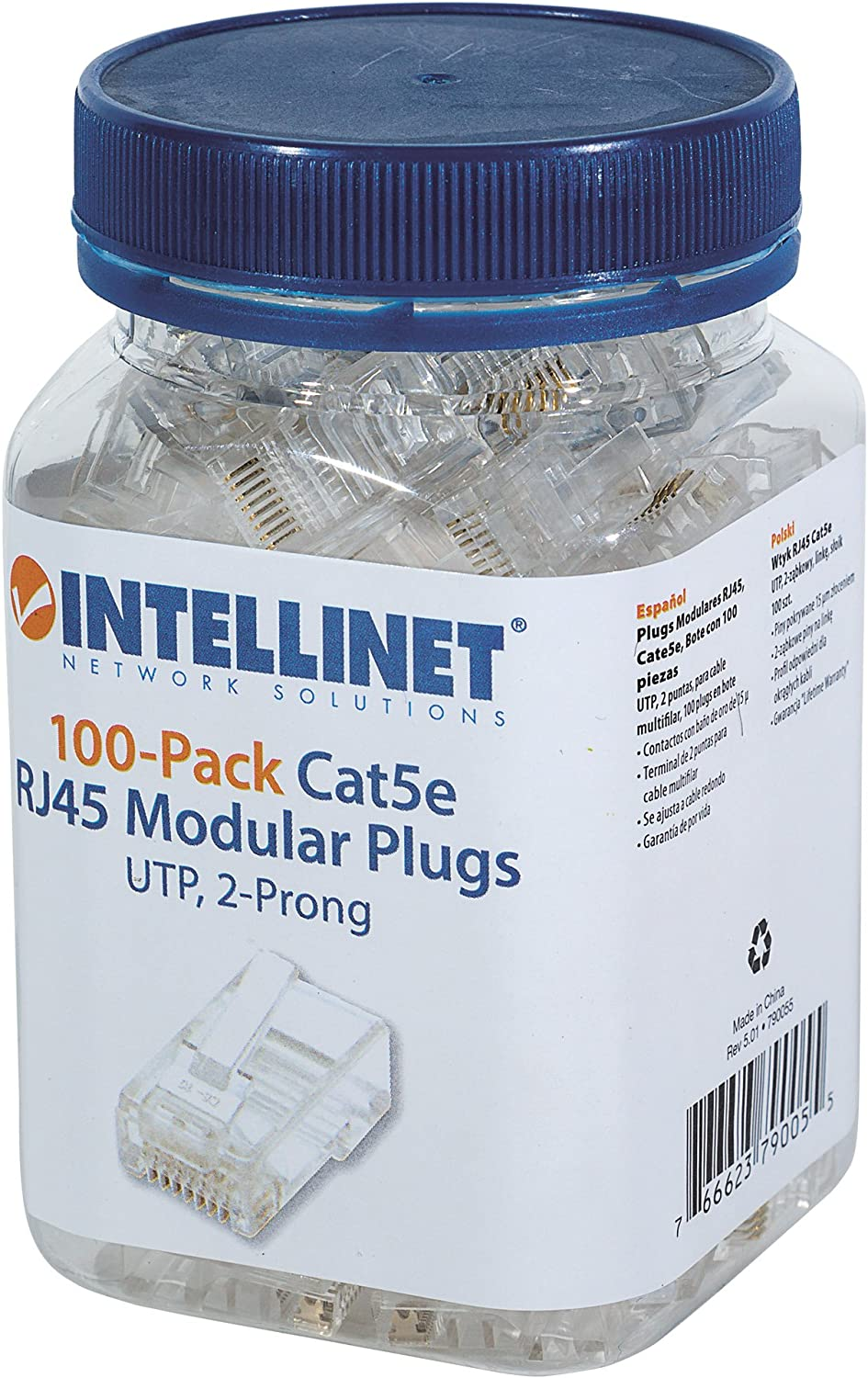Intellinet Cat5 RJ45 Connector Ends Set 100 pcs Pro Baltimore Mall Two - with Ranking TOP10