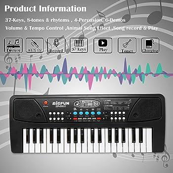 Zest 4 Toyz Zest toyz 37 Key Piano Keyboard Toy with DC Power Option, Recording and Mic