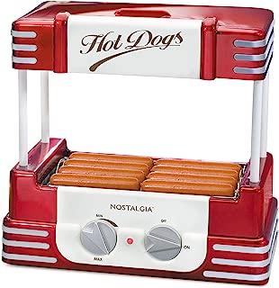 Nostalgia RHD800 Hot Dog Roller and Bun Warmer, 8 Hot Dog and 6 Bun Capacity
