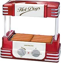 Nostalgia HDR8RR Hot Dog Warmer 8 Regular Sized, 4 Foot Long and 6 Bun Capacity,..