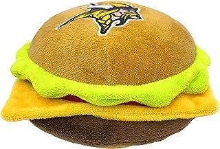 NFL Minnesota Vikings Cheese Burger Plush Dog & CAT Squeak Toy - Cutest Stadium HAMBERGER Snack Plush Toy for Dogs & Cats ...