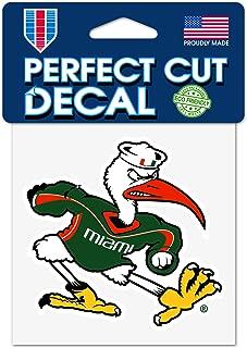 Wincraft University of Miami Hurricanes Ibis Sebastian 4x4 Perfect Cut Decal
