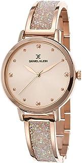 Daniel Klein Premium Alloy Case Stainless Steel Band Ladies Wrist Watch - Dk.1.12450-2, pink