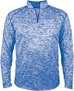 Men's Sports Double-Needle Blend 1/4 Zip Jacket