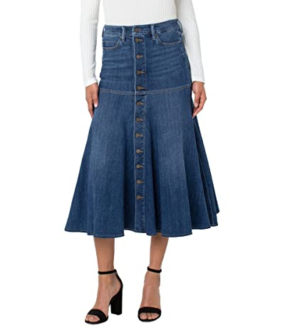 Liverpool High-Rise A-line Skirt w/ Front Placket in Billings