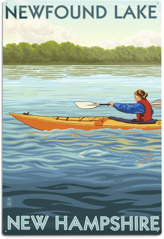 Lantern Press Newfound Lake Super sale Don't miss the campaign period limited New Hampshire A Scene 12x18 Kayak