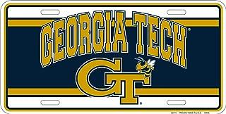 Georgia Tech Yellow Jackets Gt Metal License Plate