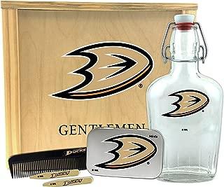 Worthy Promo NHL Anaheim Ducks Gentlemen's Gift Box Toiletry Edition 1-250 ml Glass Swing-Top Bottle, 10 x 9 x 3.75