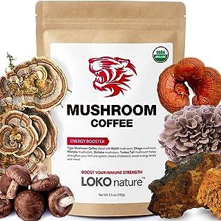 Tiger 5 Mushroom Coffee- Organic Superfood Mushroom Coffee with 100% Arabica, 30 servings, Powerful Natural Ingredients, A...