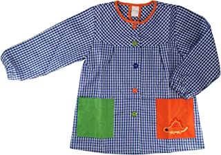 Bata Escolar Infantil Multicolor Baby Infantil de Cuadros