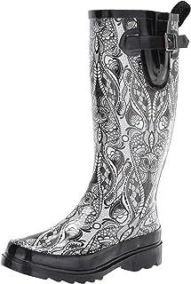 The SAK Women's Rain Boot, Rainboot, Black & White Soulful Desert, 9