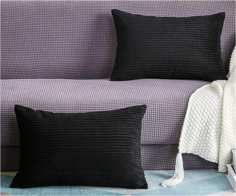 Lumbar Pillow Chair Max 77% OFF Cushion Set of Solid OFFicial shop 2 Velvet Striped Cordu