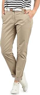 43704f0bc2e68c DESIRES Chakira Damen Chino Hose Stoffhose Mit Gürtel Mit Stretch-Anteil  Regular Fit