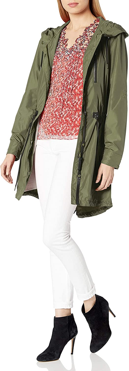 Mackage Womens Norma Anorak with Leather Detail
