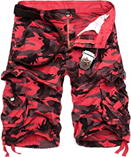 red camo shorts mens