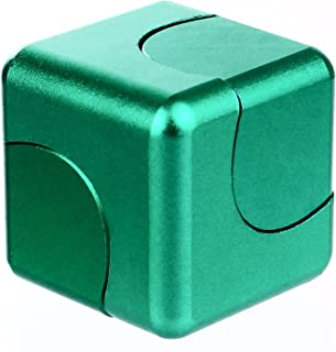 CXCASE Fidget Spinner Cube Helps Focusing Fidget Toys Premium Quality CNC Metallic Focus Toy for Kids & Adults - 4-in-1 Spinning Top, Z Spinner - Emerald Green
