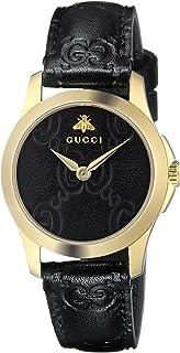 Gucci - Reloj Análogo clásico para Mujer de Cuarzo con Correa en Cuero YA126581